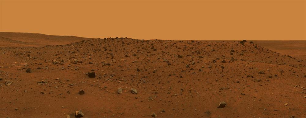 Il suolo di Marte fotografato dal rover Spirit della NASA nel 2009