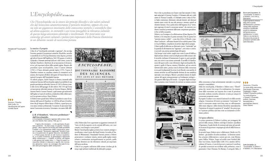 Il saggio di Cecilia Gallotti sull'Encyclopédie in Historia. Il Settecento