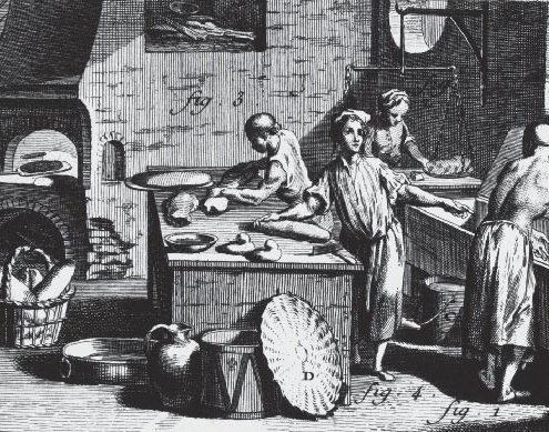 nterno di un panificio, da un'illustrazione dell'Encyclopédie