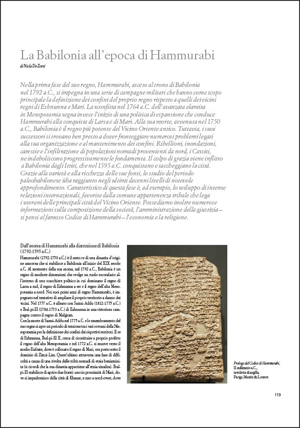 Il saggio La Babilonia dell'epoca di Hammurabi su Historia. L'antichità di Federico Motta Editore