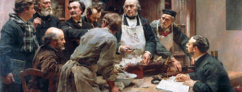 Léon Augustine L'hermitte, Claude Bernard nel suo laboratorio, 1899