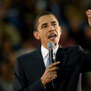 Barack Obama durante un discorso
