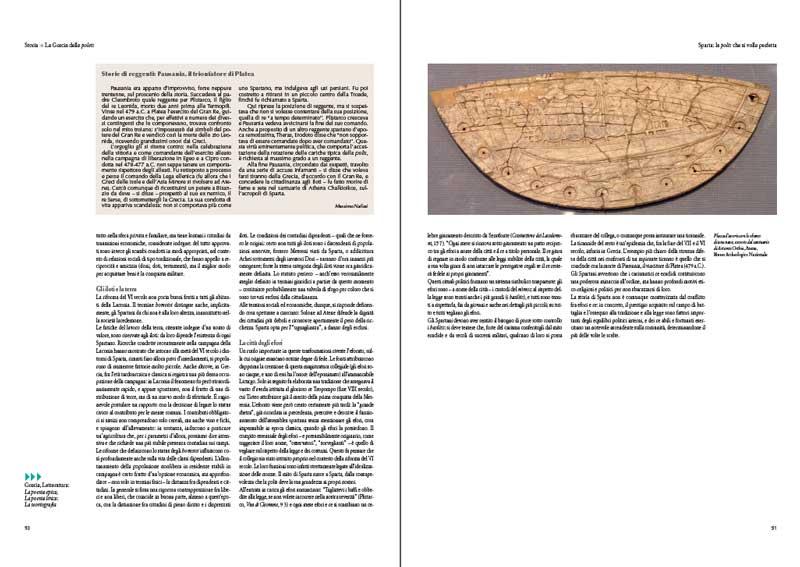 Storie di reggenti: Pausania il trionfatore di Plate, di Massimo Nafissi su L'Antichità di Federico Motta Editore