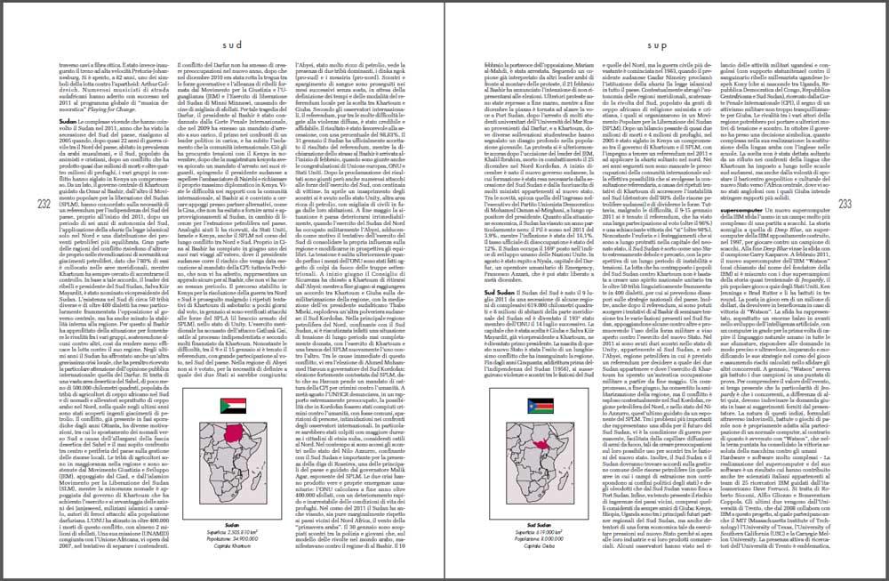 Le voci dedicate a Sudan e Sudan del Sud sull'annuario 2012 di Federico Motta Editore