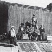 Lo zar Nicola II con la sua famiglia nel 1917