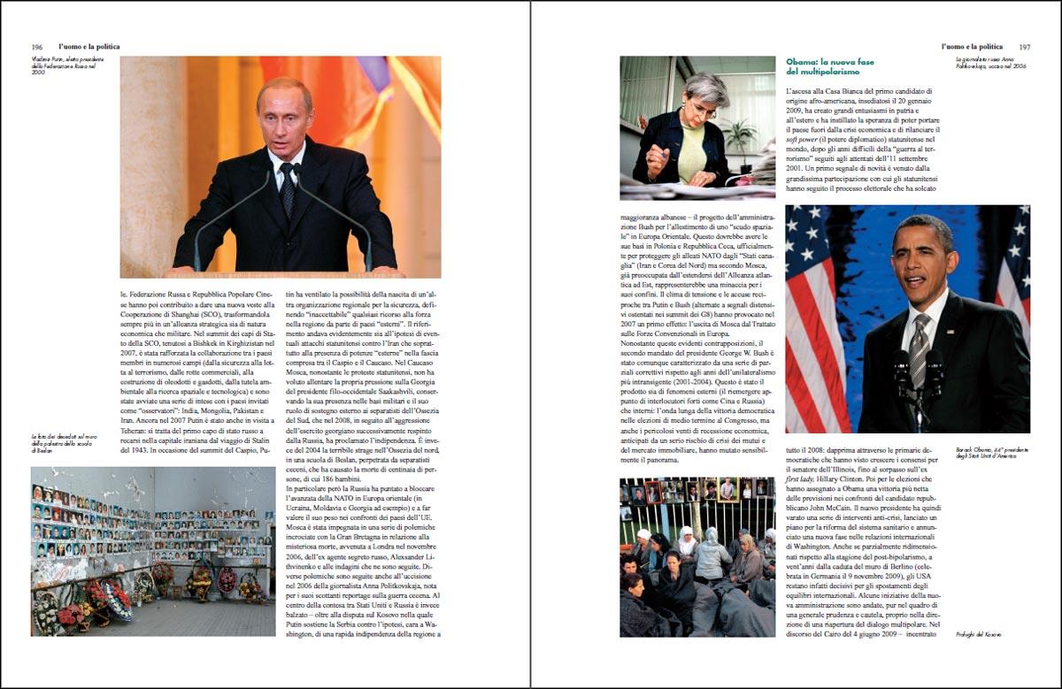 Le pagine del Primo Decennio del Terzo Millennio dedicate a Barack Obama